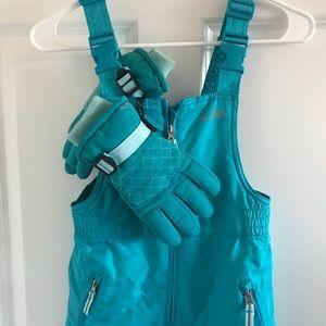• Girls Snow Ski Bibs & Gloves